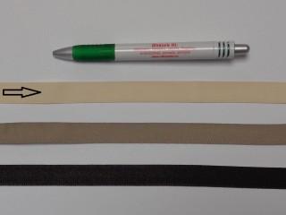 Koptató szalag, 1,5 cm széles, ekrü (8285)