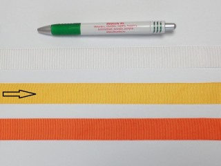 Ripsz szalag, 2 cm széles, citromsárga (8287)