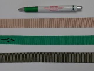 Ripsz szalag, 2 cm széles, zöld (8290)