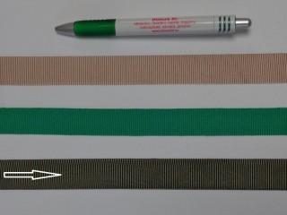 Ripsz szalag, 2 cm széles, keki (8291)
