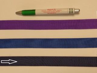 Ripsz szalag, 2 cm széles, sötétkék (8294)
