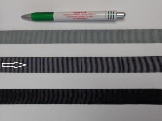 Ripsz szalag, 2 cm széles, sötét szürke (8296)