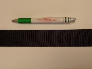 Ripsz szalag, 4 cm széles, fekete (8299)