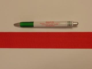 Ripsz szalag, 4 cm széles, piros (8301)