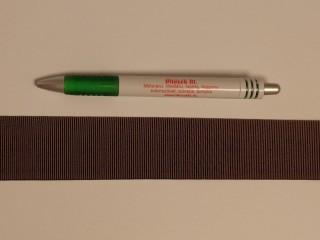 Ripsz szalag, 4 cm széles, barna (8302)