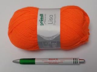 Lisa premium, Gründl kötőfonal, neon narancs (8323-50)
