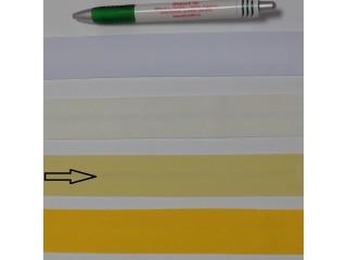 Pamut ferdepánt, 3 cm széles, vajsárga (8337)