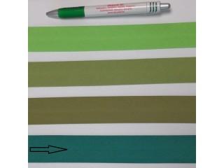 Pamut ferdepánt, 3 cm széles, sötét zöld (8362)