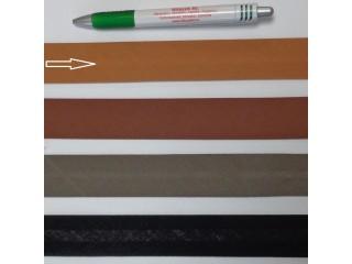 Pamut ferdepánt, 3 cm széles, világos barna (8371)