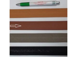 Pamut ferdepánt, 3 cm széles, sötét barna (8372)