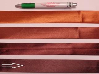 Szatén ferdepánt, 3 cm széles, mély-barna (8398)