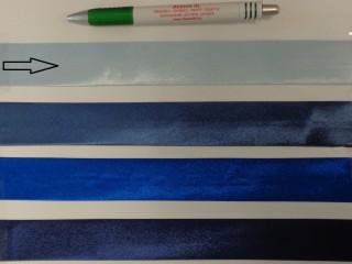 Szatén ferdepánt, 3 cm széles, világoskék (8399)