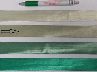 Szatén ferdepánt, 3 cm széles, olivazöld (8404)