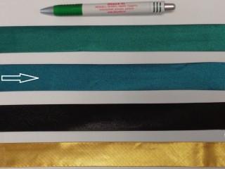 Szatén ferdepánt, 3 cm széles, türkiz (8408)