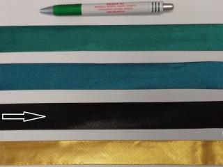 Szatén ferdepánt, 3 cm széles, fekete (8409)