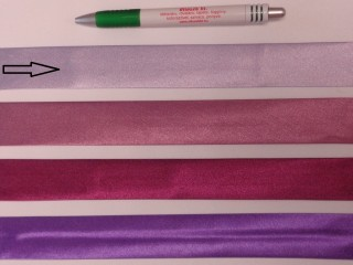 Szatén ferdepánt, 3 cm széles, világos lila (8411)