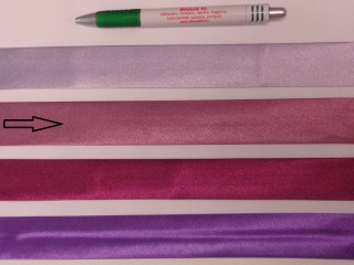 Szatén ferdepánt, 3 cm széles, lilás-mályva (8412)