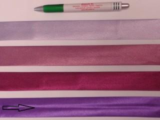 Szatén ferdepánt, 3 cm széles, sötét lila (8414)