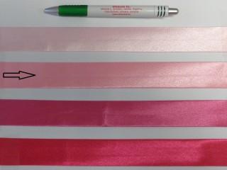 Szatén ferdepánt, 3 cm széles, rózsaszín (8416)