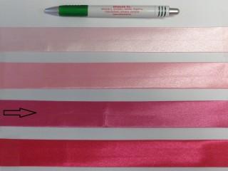 Szatén ferdepánt, 3 cm széles, sötét rózsaszín (8417)