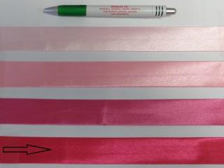 Szatén ferdepánt, 3 cm széles, pink (8418)