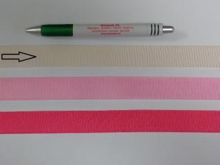 Ripsz szalag, 2 cm széles, ekrü (8427)
