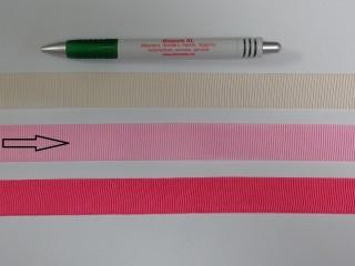 Ripsz szalag, 2 cm széles, rózsaszín (8428)