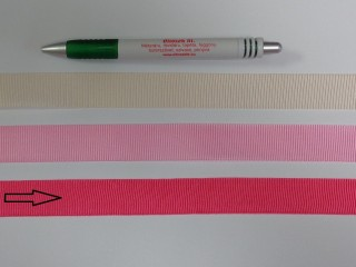 Ripsz szalag, 2 cm széles, pink (8429)