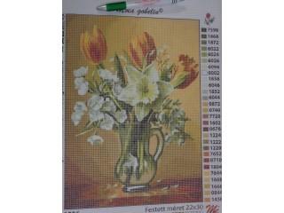Gobelin, üveg kancsó virágokkal (8459)