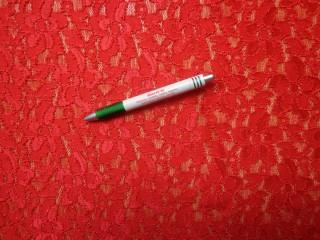 Rugalmas csipke, piros (8474)