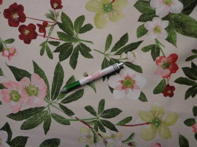 Loneta, bordó-zöld virágos, kerti bútor vászon (8549)