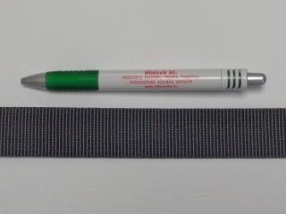 3 cm széles heveder, sötét szürke (8562)