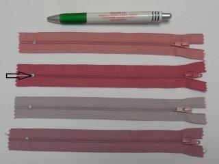 RT0-s, 18 cm hosszú, műanyag, spirál fogú cipzár, közép mályva (8569)