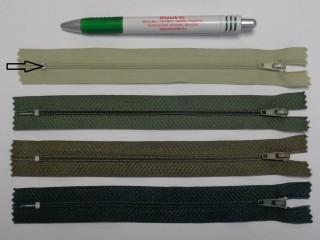 RT0-s, 18 cm hosszú, műanyag, spirál fogú cipzár, világos keki (8604)