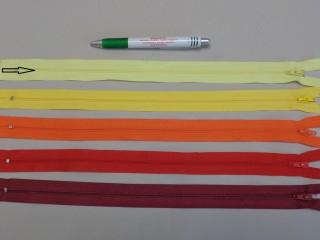 RT-0, 35 cm hosszú, műanyag, spirál fogú cipzár, citromsárga (8619)
