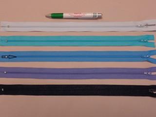 RT-0, 35 cm hosszú, műanyag, spirál fogú cipzár, farmerkék (8640)