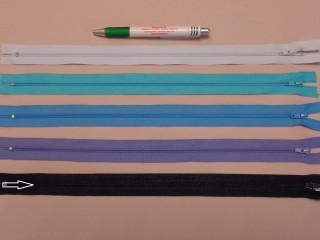 RT-0, 35 cm hosszú, műanyag, spirál fogú cipzár, sötétkék (8642)