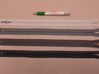 RT-0, 35 cm hosszú, műanyag, spirál fogú cipzár, világos szürke (8643)
