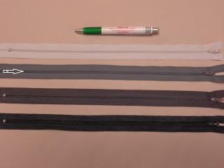 RT-0, 35 cm hosszú, műanyag, spirál fogú cipzár, középszürke (8644)