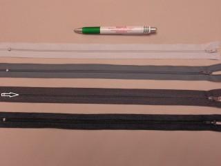 RT-0, 35 cm hosszú, műanyag, spirál fogú cipzár, sötét szürke (8645)