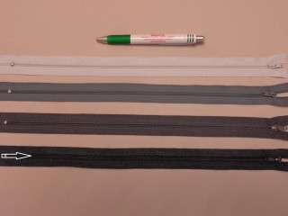 RT-0, 35 cm hosszú, műanyag, spirál fogú cipzár, grafit szürke (8646)