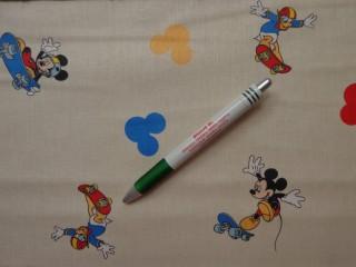 Disney mintás pamutvászon, Mickey egeres, vajszínű  (8660)