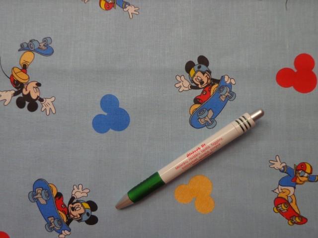 Disney mintás pamutvászon, Mickey egeres, kék  (8661)