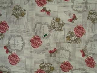 Vízlepergetős kerti bútor vászon, virágos (8679)