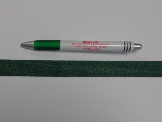 2 cm széles, köpper szalag, sötétzöld (8682)