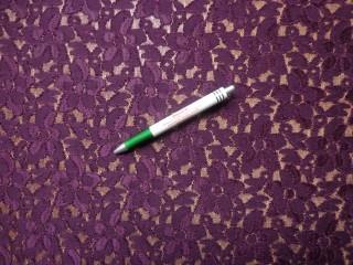 Rugalmas csipke, sötét lila (8687)