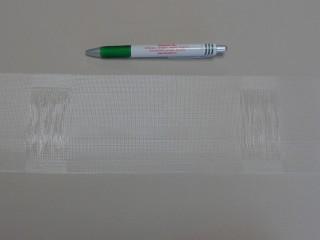 Függönybehúzó, átlátszó, vitrázs rúdhoz, 10 cm széles (8695)