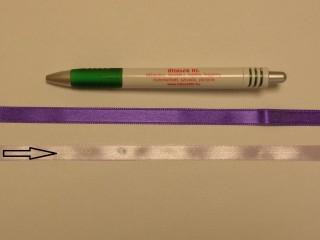 1 cm széles szatén szalag, világos lila (8716)