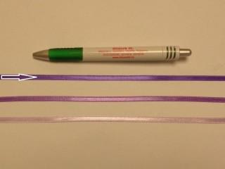0,5 cm széles sötét lila szatén szalag (8718)