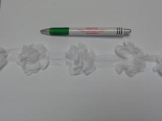 Tüll virág szalagon, fehér (8783)